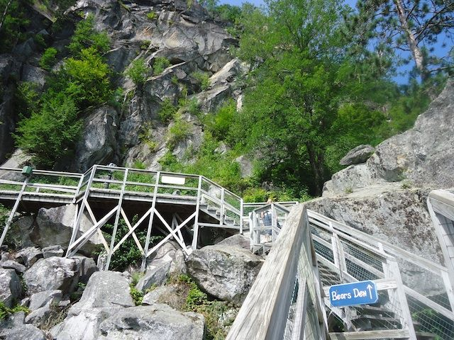 My favorite stop during our family trip through the New Hampshire lakes district was the Polar Caves Park in Rumney, New Hampshire.