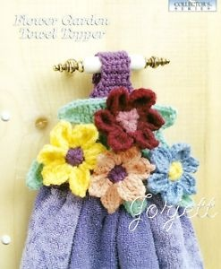Dish Towel Topper - Flower Garden Towel Topper Crochet Pattern