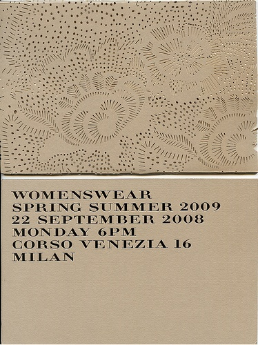 burberry :: spring/summer 2009 runway show invitation