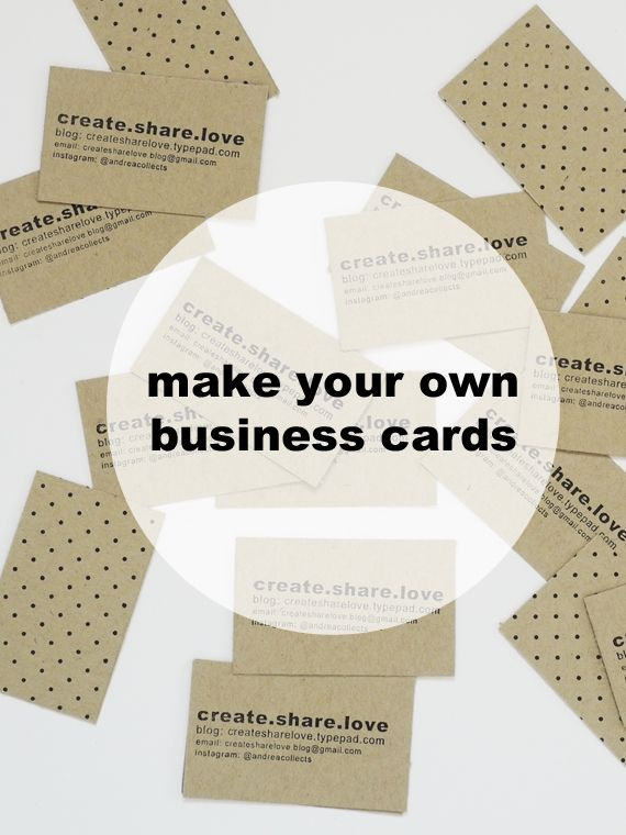 37 best creative small business ideas images on pinterest carte de cute diy business card tutorial reheart Choice Image