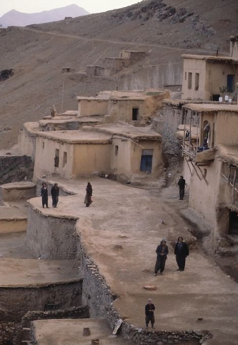 Kurdish Village in the Iranian Province of Kurdistan in the 1970s. Photo by Michel Setboun