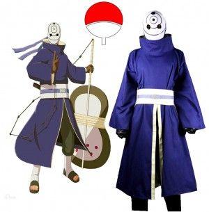 Naruto mask tobi cosplay clothes Akatsuki syaringan obito uchiha obito mask akatsuki Cosplay(mask and clothes)