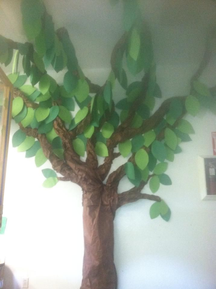 construction paper tree for classrooms