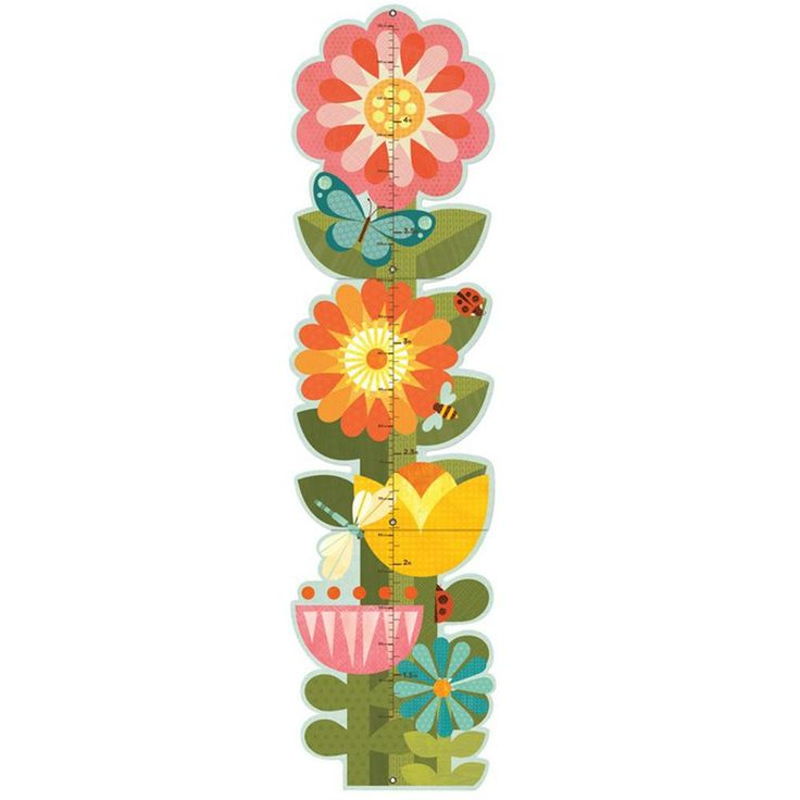 Garden Flowers Growth Chart from Oompa Toys