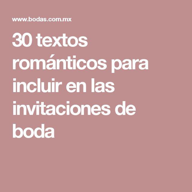 30 textos románticos para incluir en las invitaciones de boda