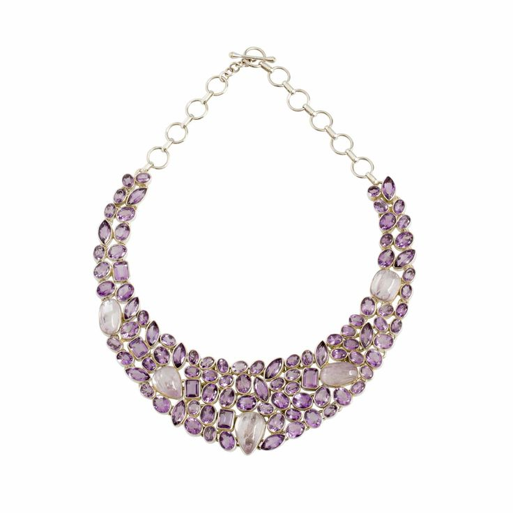 Necklace-Kunzite and Amethyst