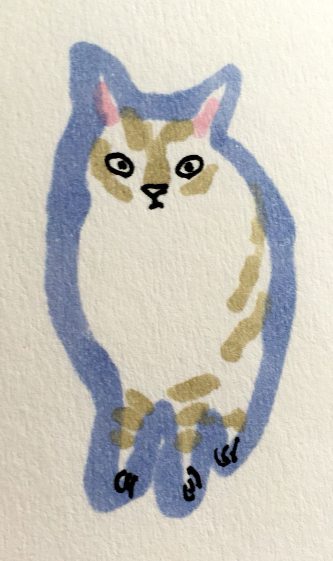 Cat by Marie Åhfeldt, Mås Illustra. www.masillustra.se #kitten #cat #illustration #drawing #masillustra