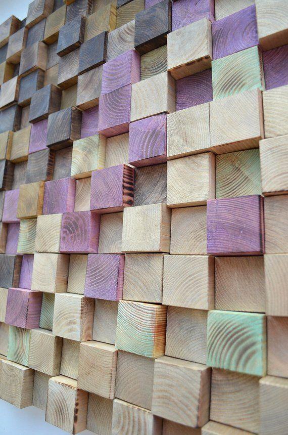 Wood Wall Art Modern Wood Art Metallic Wood Art 3 D Wall Art Decor Reclaimed Wood Art Wood Mosaic Wood Sculpture Abstract Painting Reclaimed Wood Art Wood Wall Art Wood Art