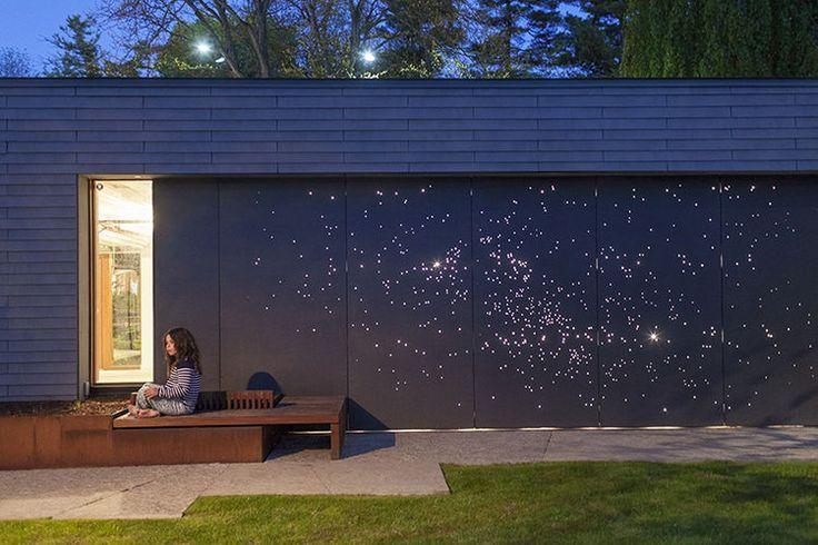 Starry Night: Outdoor Wall Light Installation   Dwell