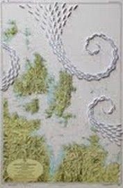 Riccardo Gusmaroli, Arcipelago de La Maddalena, barche di carta su carta nautica