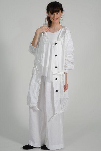Traveller reversible raincoat, Beka knit top, Yoshi linen pant, Onbroque leather shoe