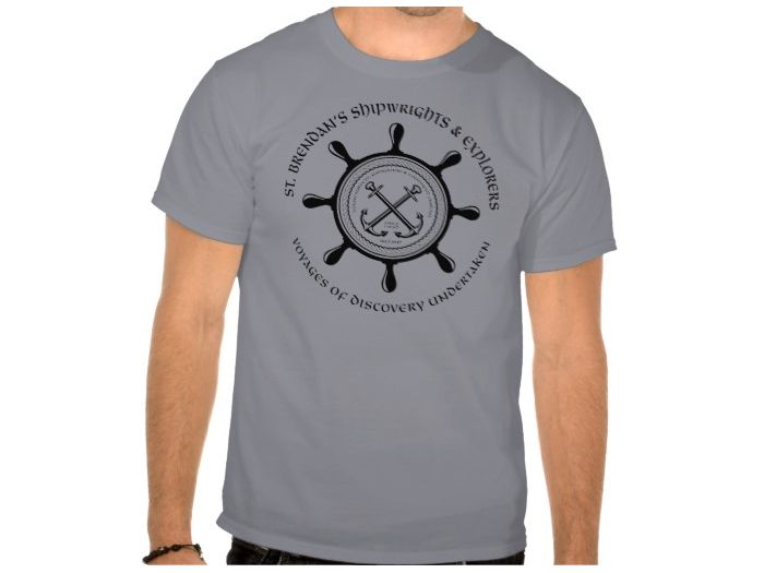 Saint Brendan's Shipwrights, Style is Basic T-Shirt, color is Grey