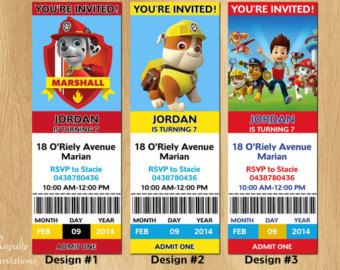 Best 25+ Paw patrol party invitations ideas on Pinterest | Paw ...
