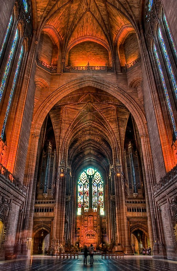 Inside Liverpool anglican cathedral