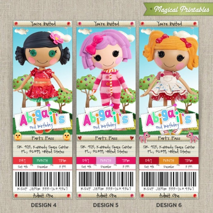 7 best Pillow Featherbed Lalaloopsy Invitation Set! images on ...