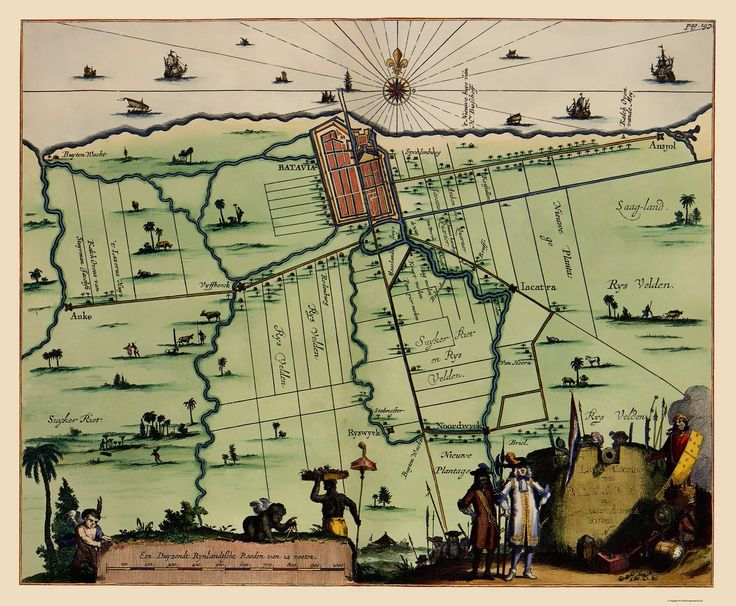 Old Batavia map   BY-J-NIEUHOFF-1682 (this is a reproduction but nice anyway)