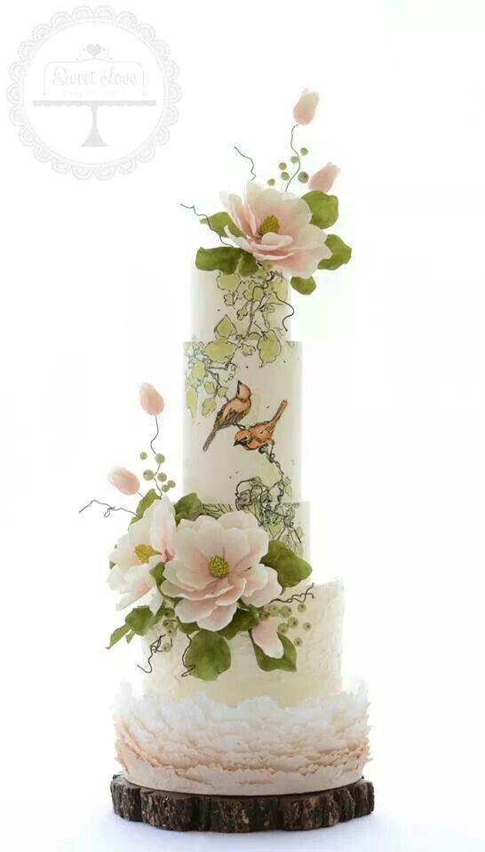 Sweet Love Cake Couture | stunning handpainted cake