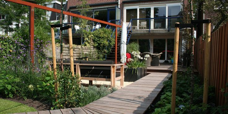 17 best images about smalle stadstuin on pinterest gardens seating areas and shrubs - Weergaven tuin lange ...