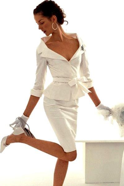 Modern white suit