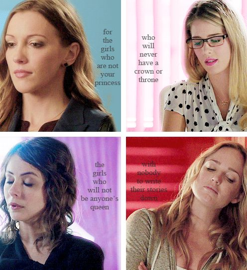 The Arrow Girls - Laurel Lance, Felicity Smoak, Thea Queen and Sara Lance
