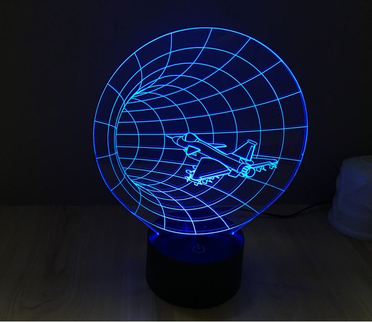 Time Machine Shape Lamp Visual Led Night Light For Kid,Touch USB Baby  Sleeping Light