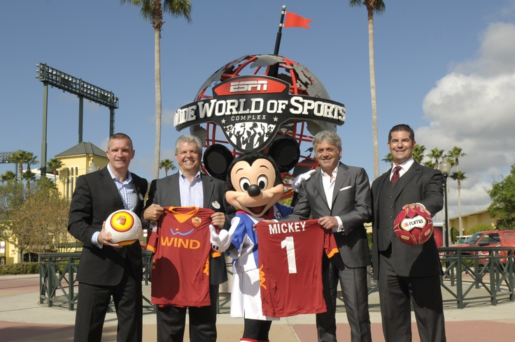03/19/2012    New multi-year agreement makes AS Roma the official professional football club of the renowned youth sports complex at the Walt Disney World Resort which becomes the team's official winter training home; Joint venture further cements the sports complex's stature as America's leading youth soccer venue and expands AS Roma brand into the U.S. soccer mar