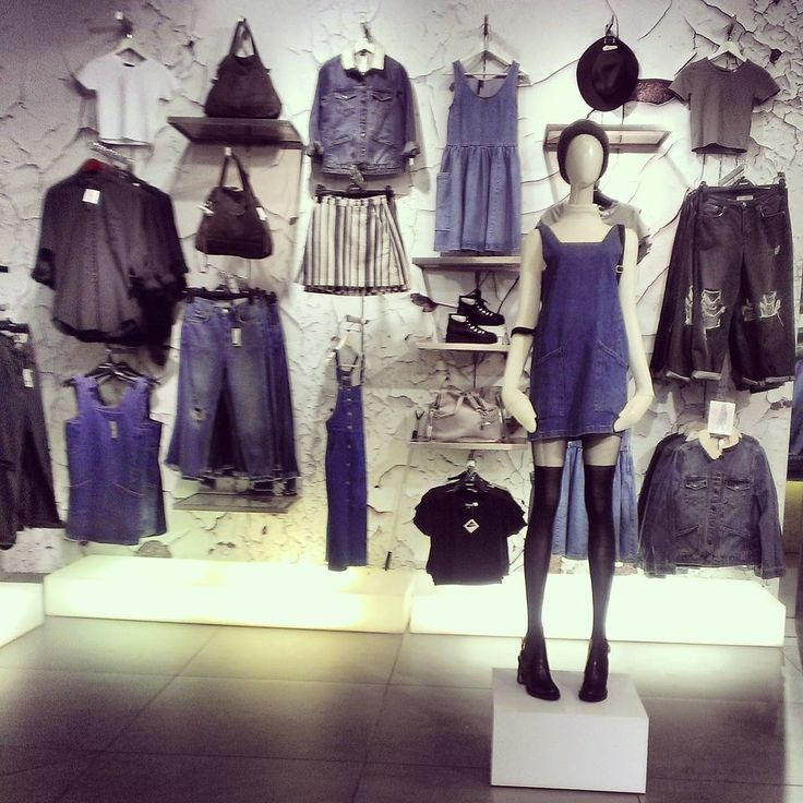 "TOPSHOP, Queen Victoria Building, Sydney, New South Wales, Australia, ""Denim has always been an everyday symbol of style"", photo by Courtney Dyer, pinned by Ton van der Veer"