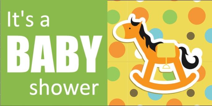 rocking horse baby shower banner template from baby shower ideas pinterest. Black Bedroom Furniture Sets. Home Design Ideas
