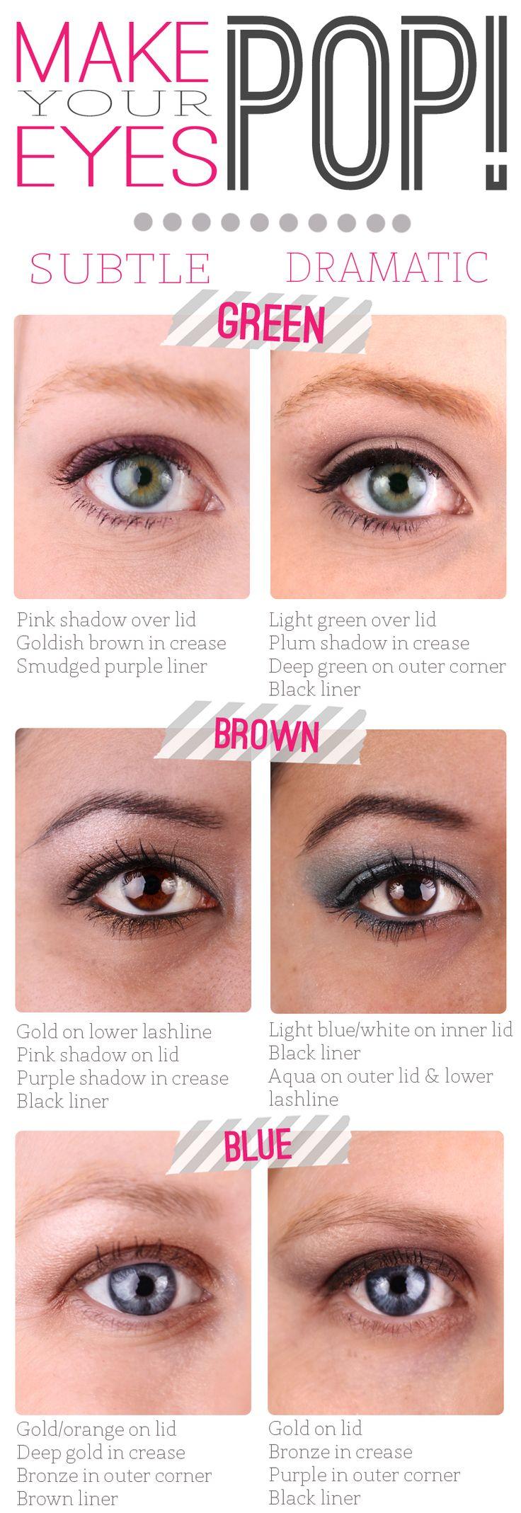 Makeup Tip: Make Your Eye Color Pop