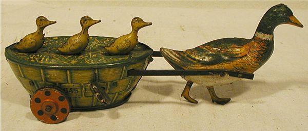 Lehmann wind-up tin toy, Paak Paak c.1903, Germany