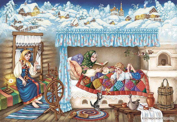 Просмотреть иллюстрацию Зимняя ночь из сообщества русскоязычных художников автора Касперская Марина в стилях: Декоративный, Детский, Книжная графика, нарисованная техниками: Компьютерная графика, Растровая (цифровая) графика.