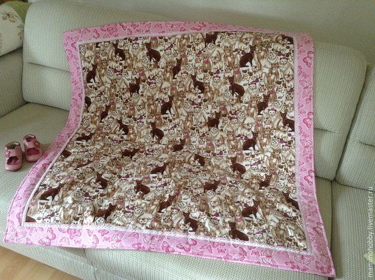Шьем двустороннее байковое одеялко за 20 минут - Ярмарка Мастеров - ручная работа, handmade