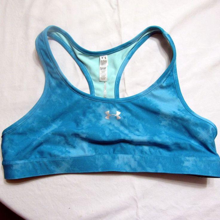 Under Armour HeatGear Sports Bra Size XL Style #1236670 Compression #UnderArmour #SportsBrasBraTops