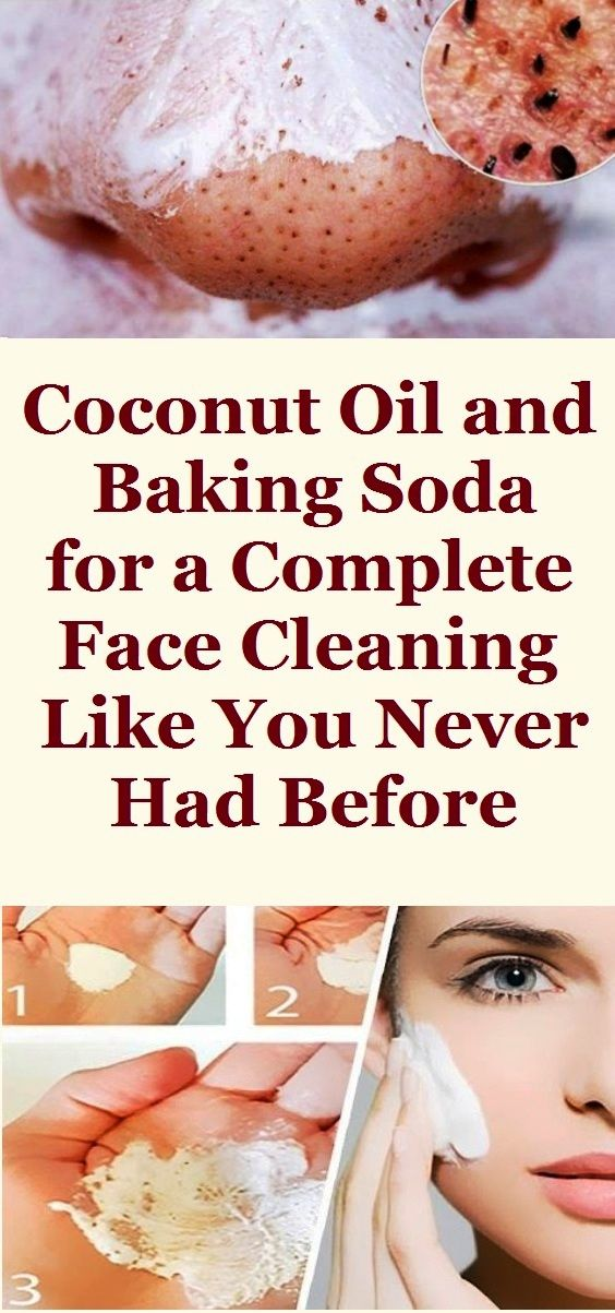 COCONUT OIL AND BAKING SODA FOR A COMPLETE FACE CLEANING LIKE YOU NEVER HAD BEFORE Having nice looking skin is a desire for every woman and because of that most of the women all around the world buy all sorts of products for face cleaning and skincare.