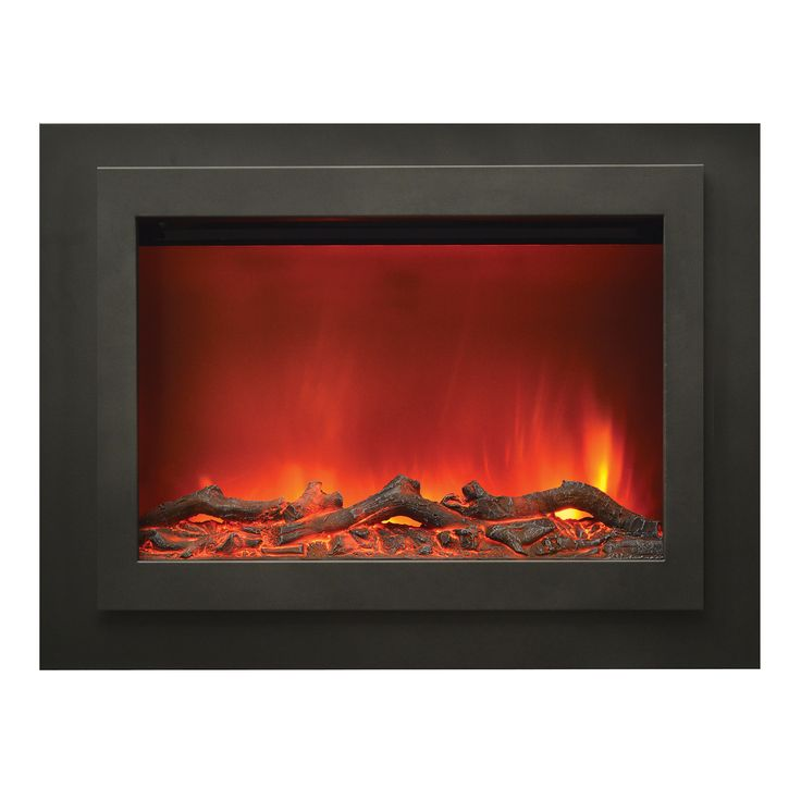 """Share and Save $5 Off Any Order Over $99. (excludes a few products) Amantii Zero Clearance LED Fire Effect Electric Fireplace w/ 45"""" x 34"""" Black Steel Surround #dynamichome"""