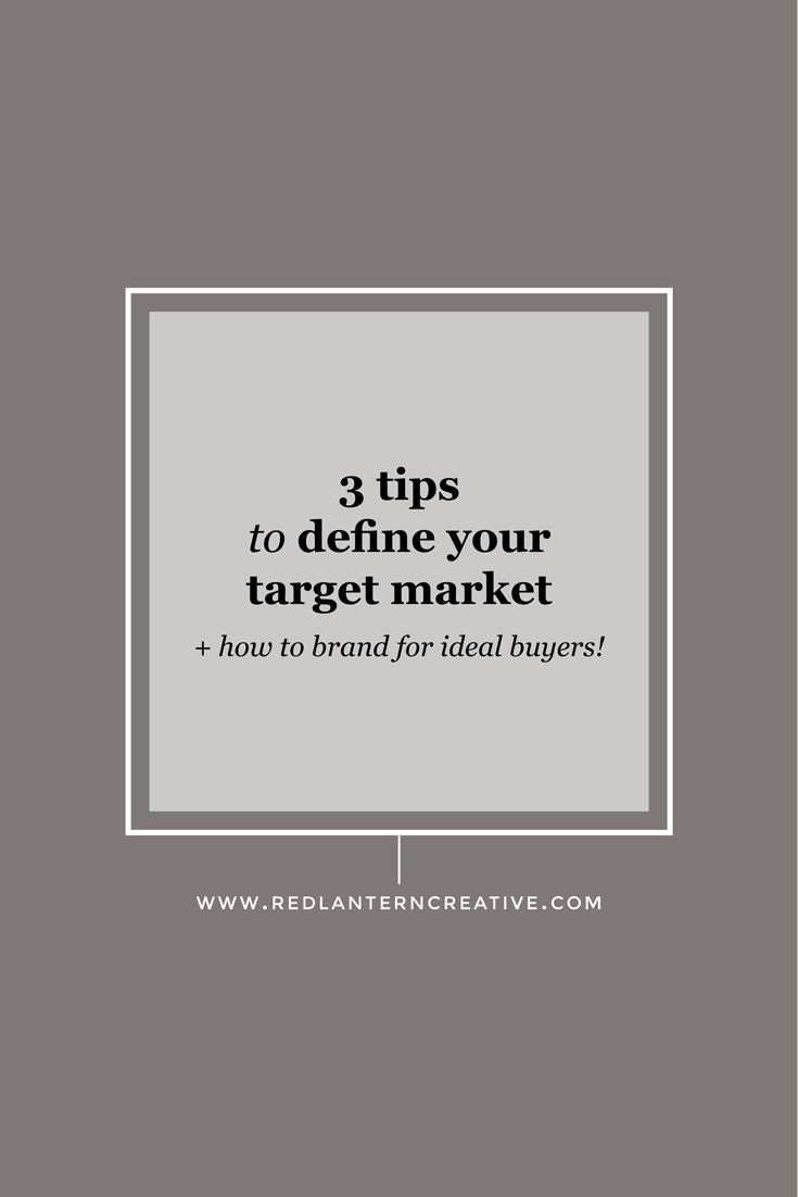 Your branding should speak to your target market. So how do you define your target market? Click through for my tips.