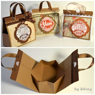 Mini bags- the tutorial is on the page after the next I think it is.. But it's…