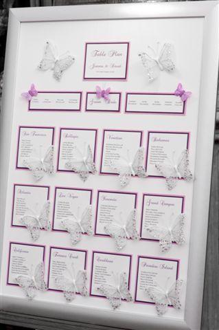 Matrimonio.it | #Tableau de Mariage #tema #farfalle