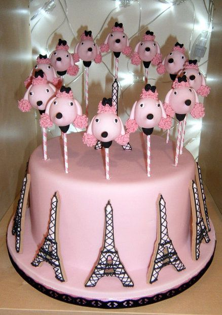 Love the poodle cake pops but not the french theme