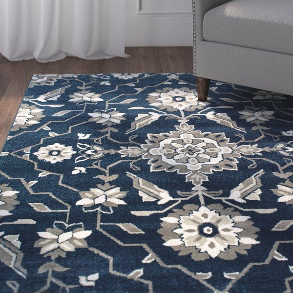 Dartington Floral Royal Blue Area Rug Traditional Decor Rugs Rugs In Living Room