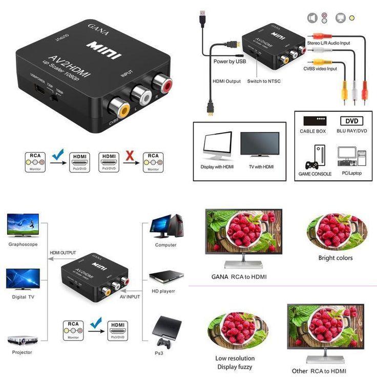 AV RCA to HDMI Converter Upscale Retro Gaming on HDTV NES SNES N64 Video Audio