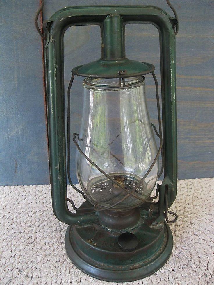 Antique PAULL'S Lantern Vtg Primitive No 0 Oil Kerosene ...