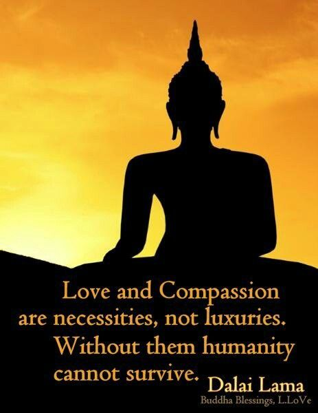 Love and compassion are necessities, not luxuries. Without them humanity cannot survive. - Dalai Lama