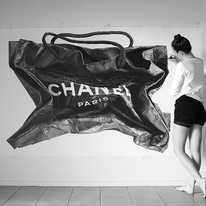 This is not a photograph - It's hand drawn with a pen by CJ Hendry for her upcoming IT Bag exhibition.