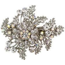 simple possibility : Wedding Accessories, Wedding Ideas, Wedding Hair Down, Wedding Hairs, Bridal Hair, Crystal Flower, Flower Hair Clips, Wedding Hair Accessories