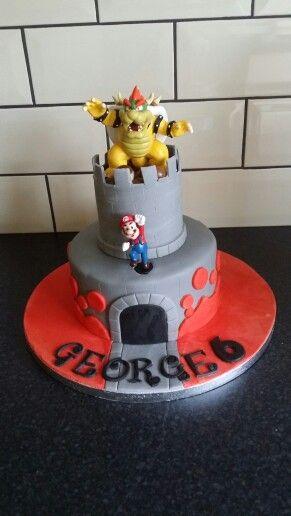 Super Mario Bowser castle cake