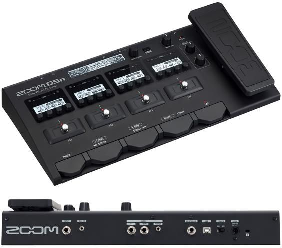 Zoom G5n.  Modern multi-effects features are present in this unit, including 5 tube amp models and 68 effect models plus USB recording. But it doesn't end with just the usual variety of effects, rather it goes beyond the features of other more expensive multi-effects pedals.  For a Detailed Guide to Guitar Multi-Effects Processors see http://www.guitarsite.com/multi-effects-pedal/