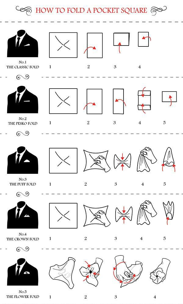 5 creative ways to fold a pocket square