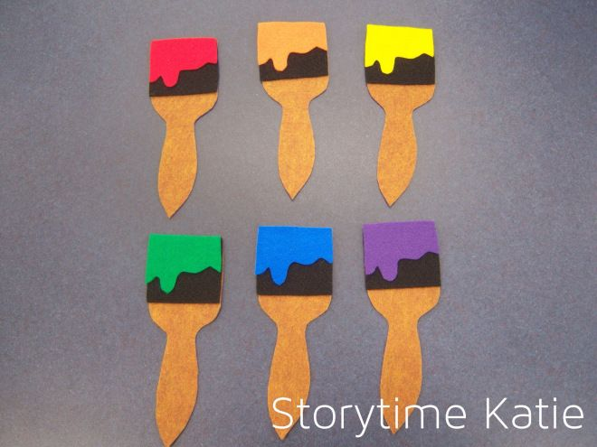 Flannel Friday: Paintbrushes – storytime katie