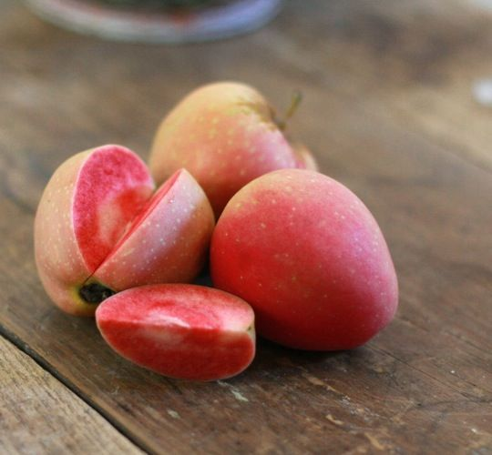 pink pearl apples: Health Desserts, Desserts Healthy, Cooking Tips, Pink Pearls Apples, Pink Flesh, Pomegranates, Amazing Cooking, Apples Ideas, Apples Pearls